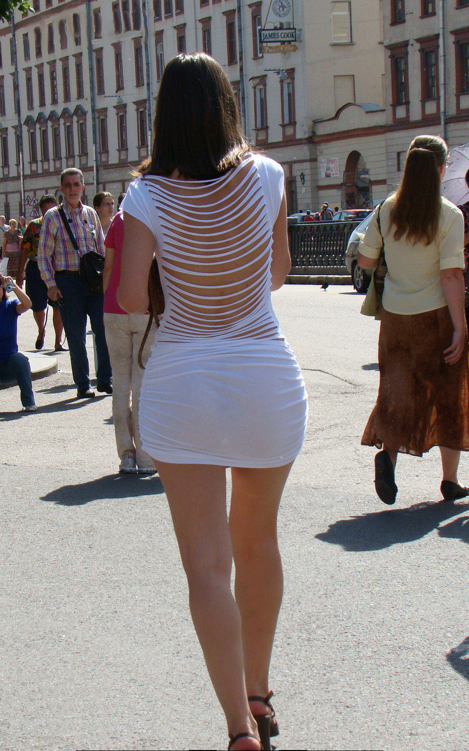 Hot ass in tight skirt